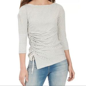 Macy's William Rast striped ruched Top